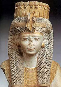 Fragment of a Statue of Meritamun, the rather frail looking daughter and alter wife of Ramesses the Great