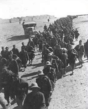 A steady stream of Italian POWs