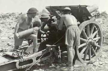 Australians firing captured Italian guns at Tobruk