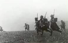 Australian troops advance on Bardia
