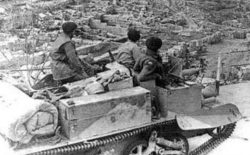 australian LP1 Carrier in Cyrenaica, mounting a Vickers Machine Gun
