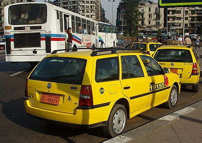 Another view of one of the new Cairo yellow cabs