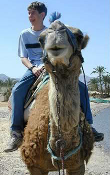 Riding a Camel at Nuweiba
