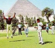 Golfing at the Mena House in Giza
