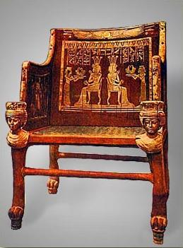 Chair presented to Yuya and Tjuyu by Sitamen, Daughter of Amenhotep III