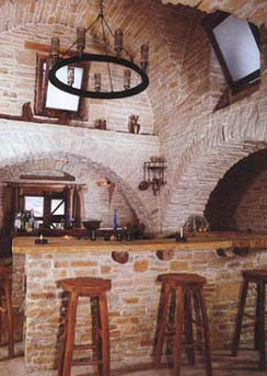 The bar area in Zaman's Castle